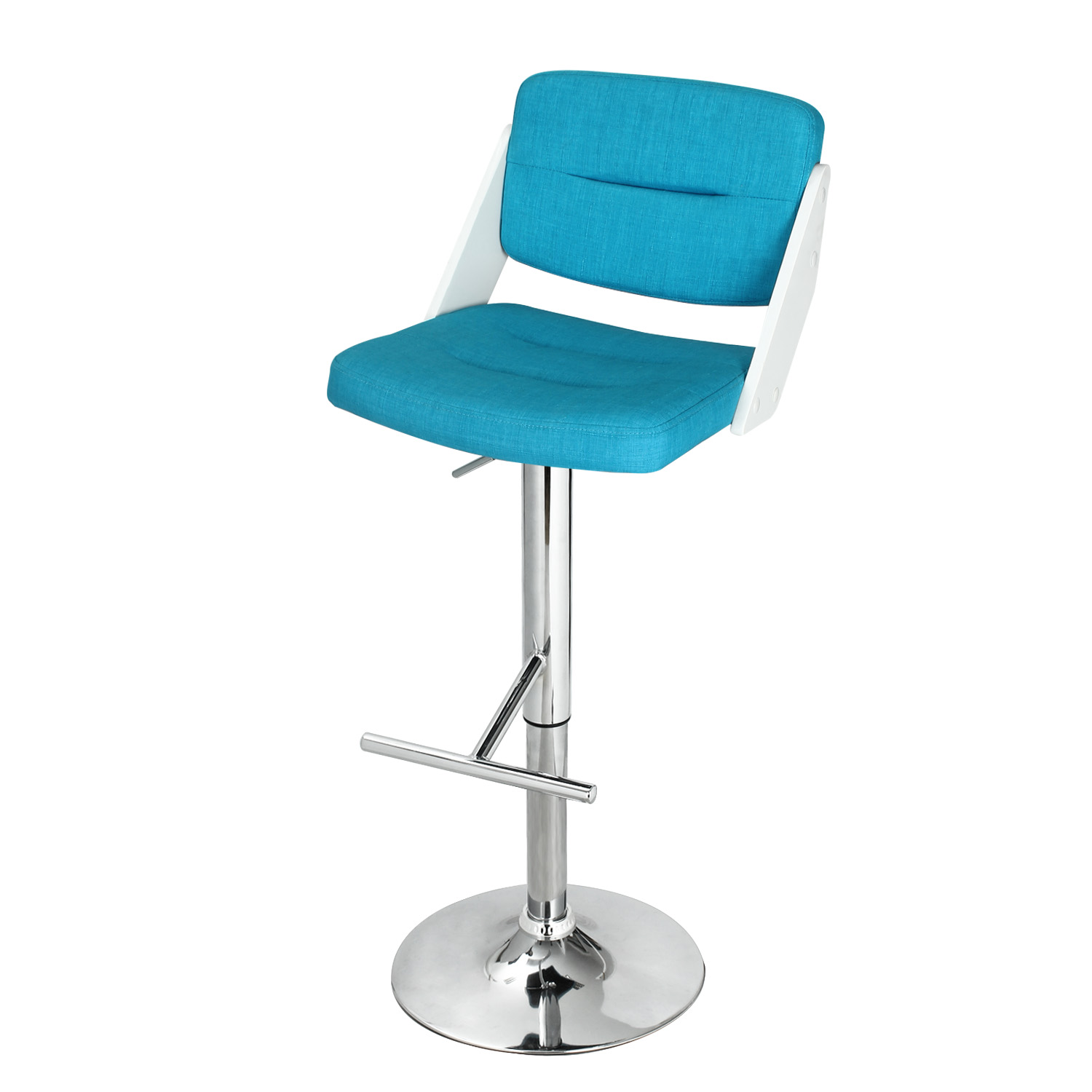 Wondrous Decenthome Blue Adjustable Height Bar Stool With Fabric Ch0263 Cjindustries Chair Design For Home Cjindustriesco