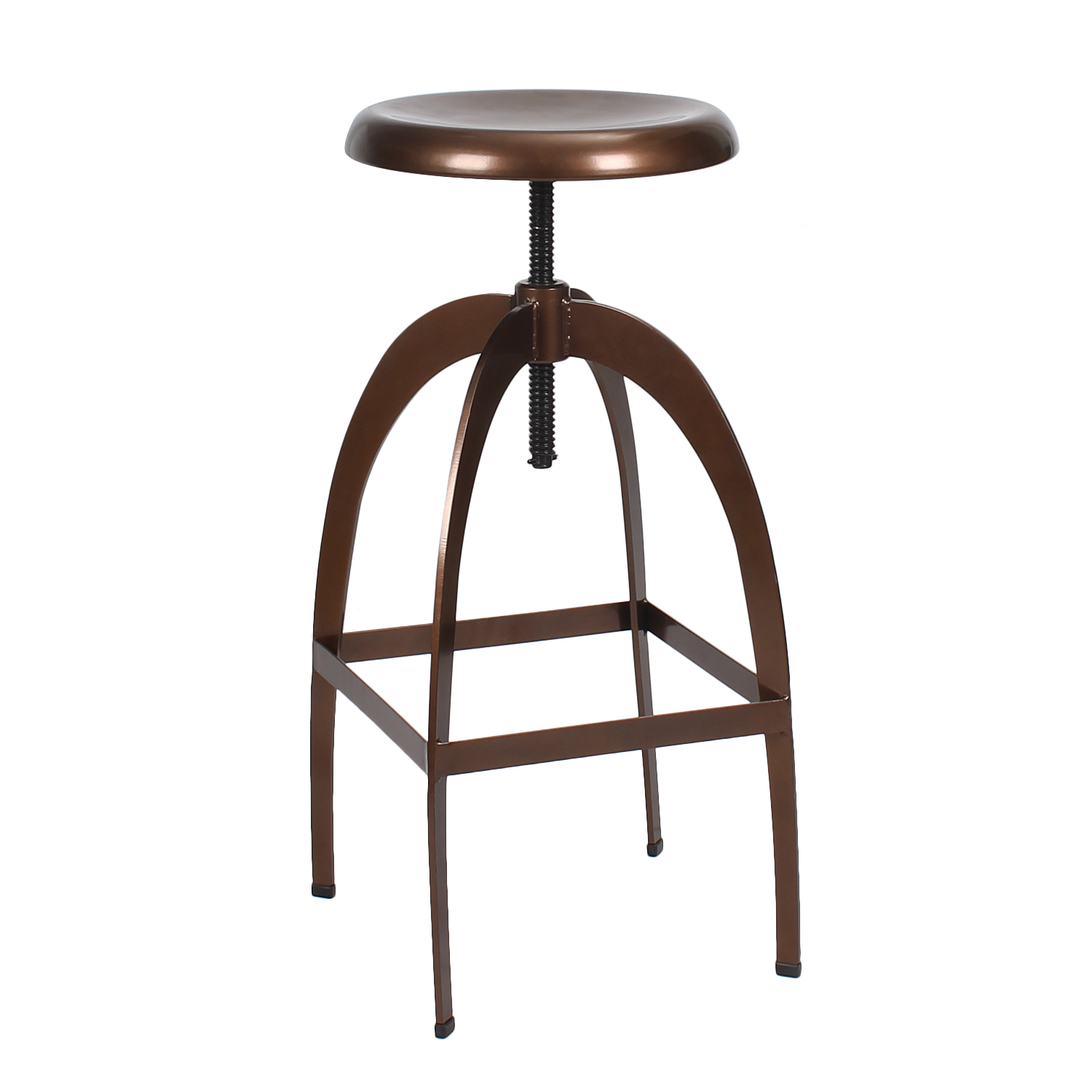 New Copper Metal Wood Counter Stool Kitchen Dining Bar: DecentHome DecentHome Copper Adjustable Logan Metal Stool