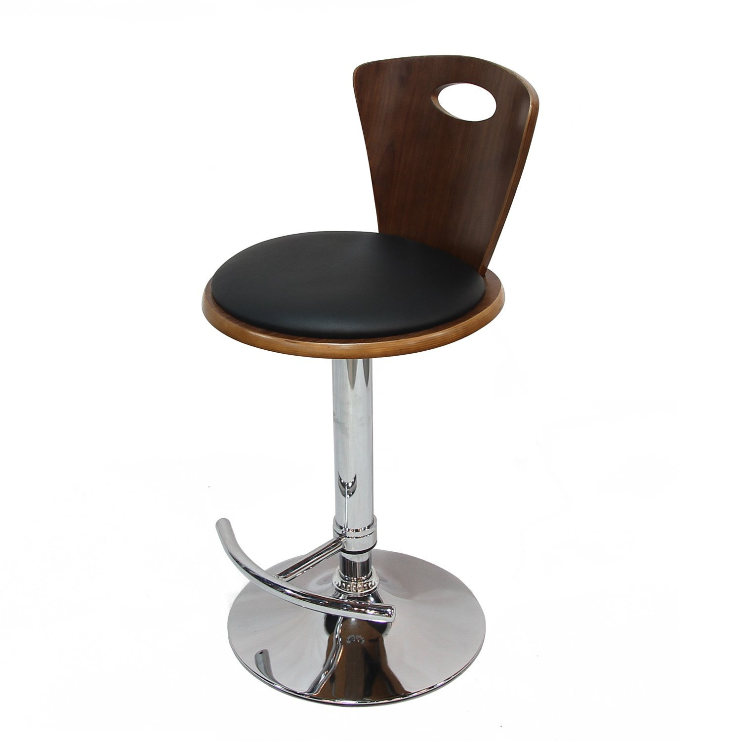 Magnificent Decenthome Adjustable Height Plywood Bar Stool With Black Pu Ch0260 Gamerscity Chair Design For Home Gamerscityorg
