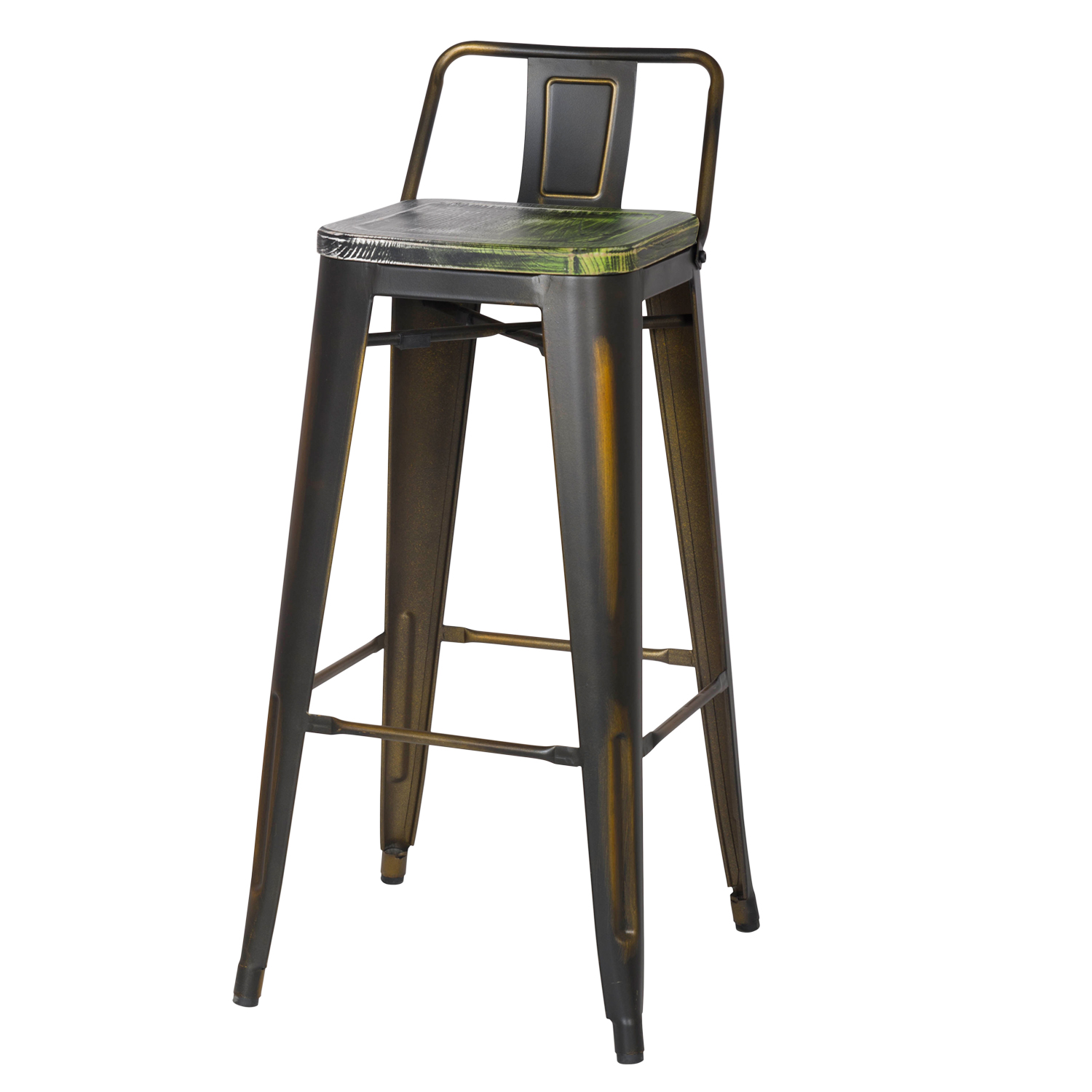 distressed metal furniture.  Metal 30 Inches Distressed Metal Bar Stool With Low Back  On Furniture