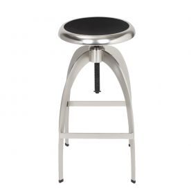 Industrial Style Stainless Steel Round Top Barstools
