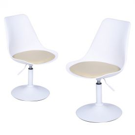 Tulip Adjustable 360 Degree Swivel Chair (Set of Two)