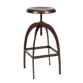 Copper Adjustable Logan Metal Stool (Single)