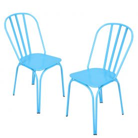 Blue Metal Chair (Set of Two)