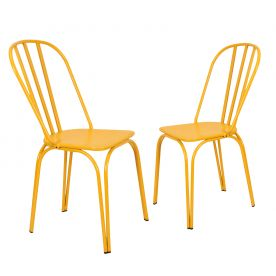 Yellow Metal Chair (Set of Two)