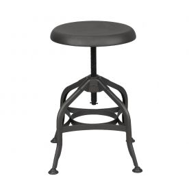 Dark Gray Finish Adjustable Logan Metal Stool (Single)