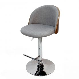 Heather Grey Adjustable Plywood Bar Stool