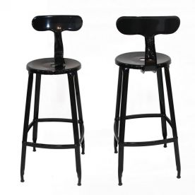 30 Inches Metal Barstool Round Seat with Back