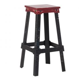 Nastas 30 Incehs Distressed Metal Bar Stools