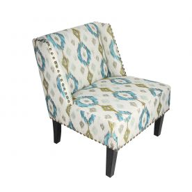 Printing Nailhead Trim Fabric Leisure Chair.