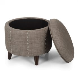 Stylish Nailhead Trim Storage Ottoman