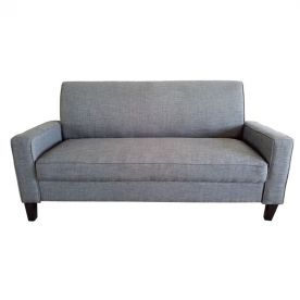 Gray 2-Seat Sofa with Birch Wood Legs