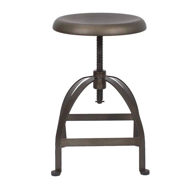 Industrial Style Swivel Stool