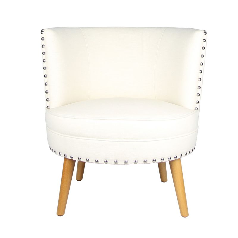 Fabric Leisure Chair with Round Back Design