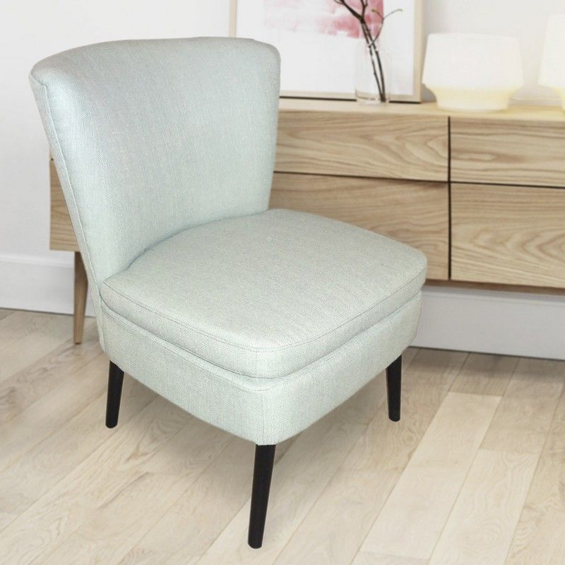Fabric Armless Side Chair