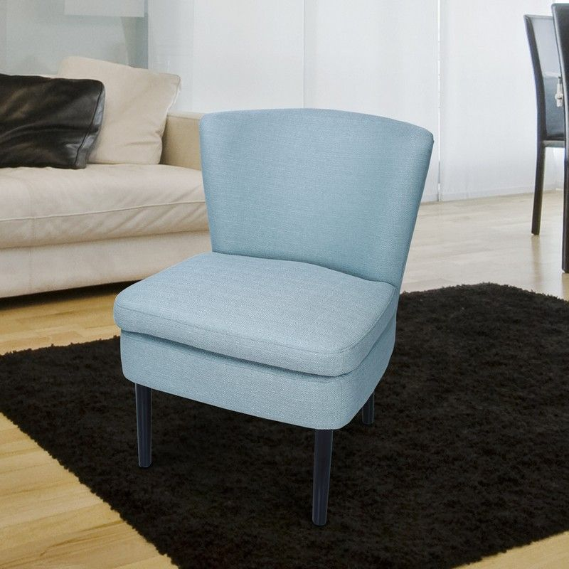 Light Gray Fabric Accent Chair