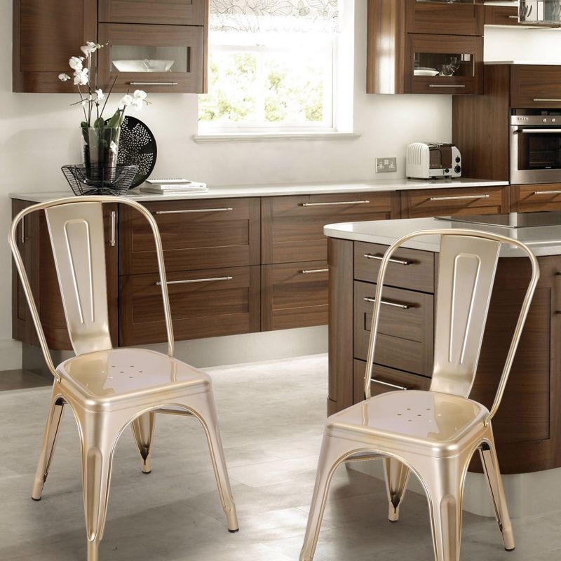 {[en]: Metal Stackable Tolix Style Industrial Chic Dining Bistro Cafe Chairs