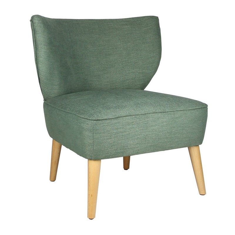 Fabric Leisure Chair with Curved Back Design
