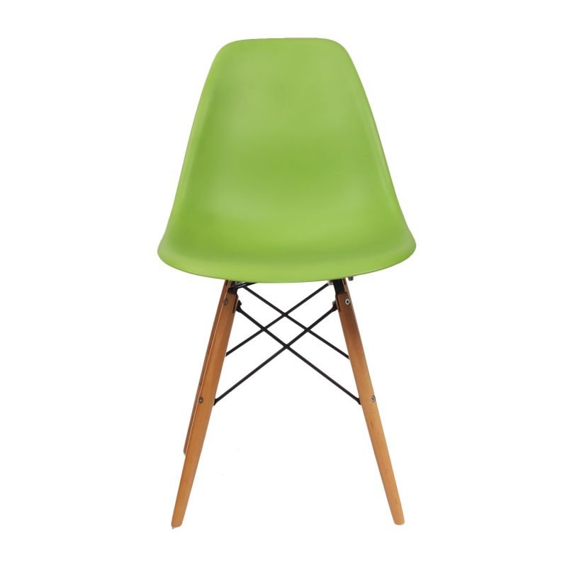 Green Charles & Ray Eames¶ÿModern Dining Chairs with Birch Wood Legs (Set of Two)