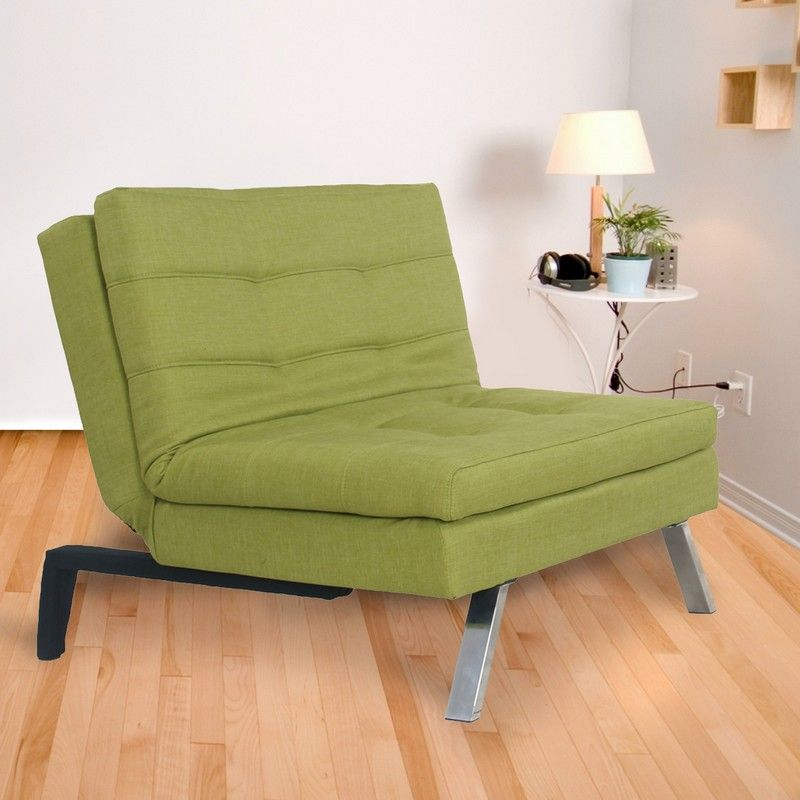 Olive Green Foam Sofa Bed with Leg